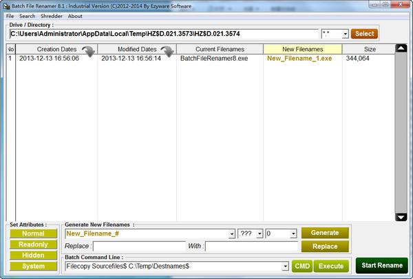 Batch File Renamer(批量更改文件) V8.1绿色版