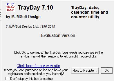 日期时间查看软件(TrayDay) v7.1