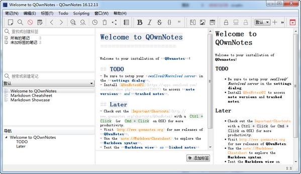 事务笔记管理(QOwnNotes) v17.02.2官方版