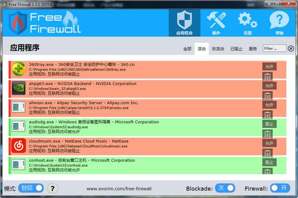 Evorim Free Firewall(很好用的免费防火墙软件)