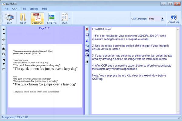 FreeOCR(文字扫描识别软件) v5.41免费版