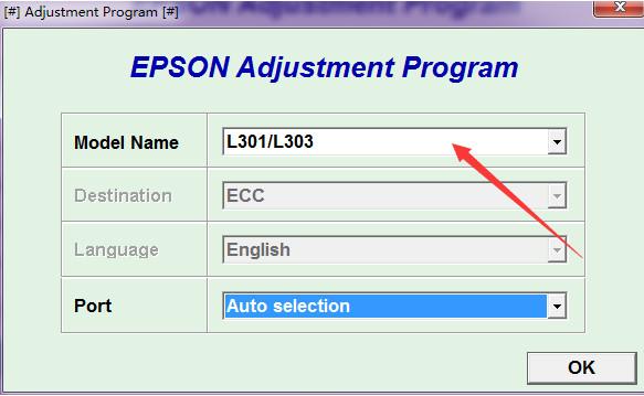 爱普生L303清零软件