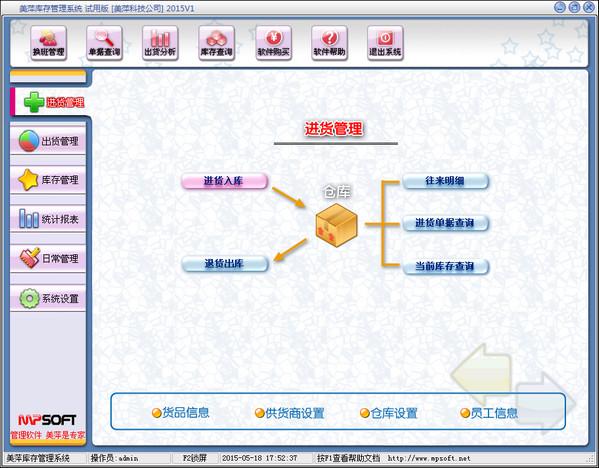 美萍仓库管理软件 v1.0