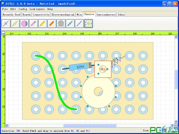 pcb电路板设计软件(diylc)