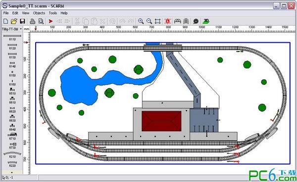 铁路轨道模型设...