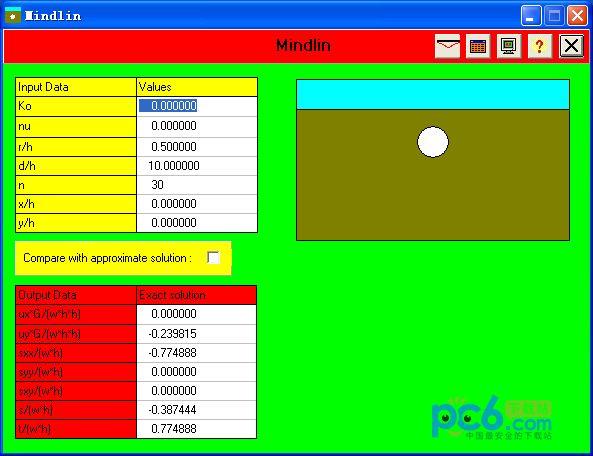 隧道变形计算工具(mindlin) 1.0绿色免费版