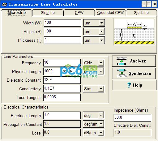 PCB线宽计算软件(transmission line calculator)