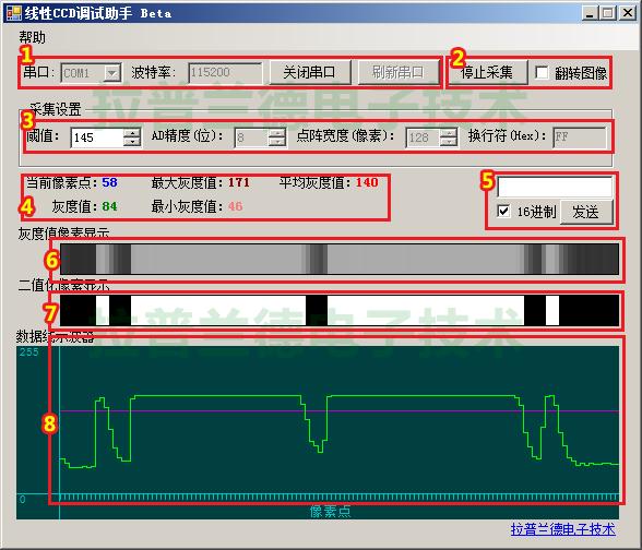 线性CCD调试助手 1.0绿色免费版