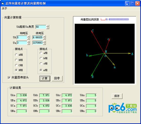正序向量差计算及向量图绘制