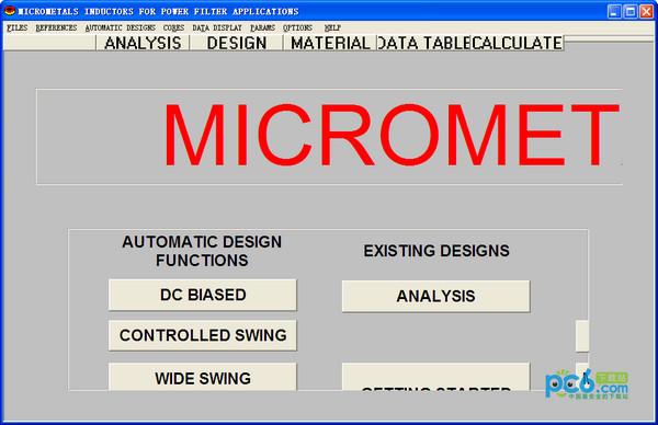 MICROMETALS(电感设计软件) v1.0绿色版