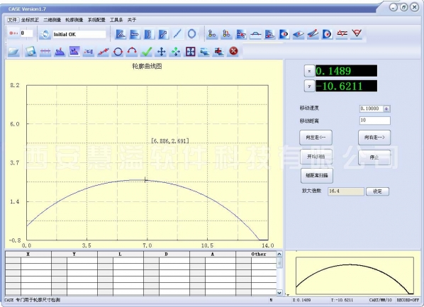 轮廓测量仪软件 V1.0正式版