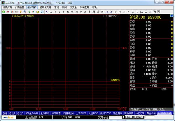 海证期货Mytrader交易信息系统