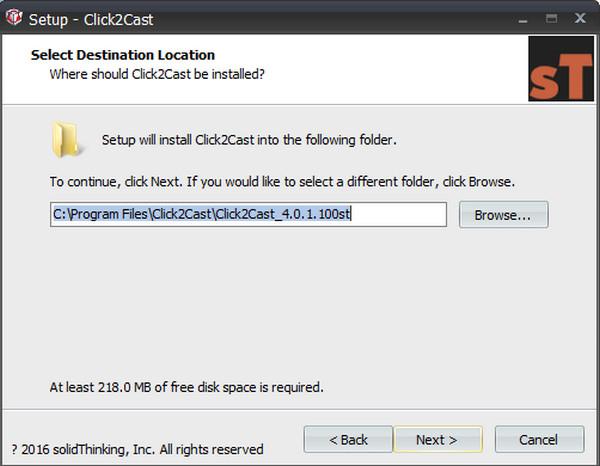 solidThinking Click2Cast(铸造工艺模拟软件) v4.0.1.1x64