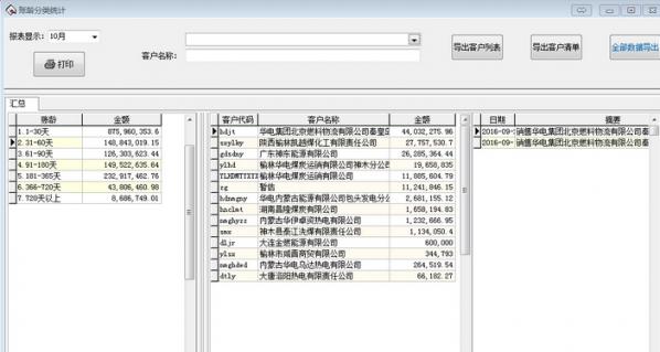 应收账款账龄分析系统