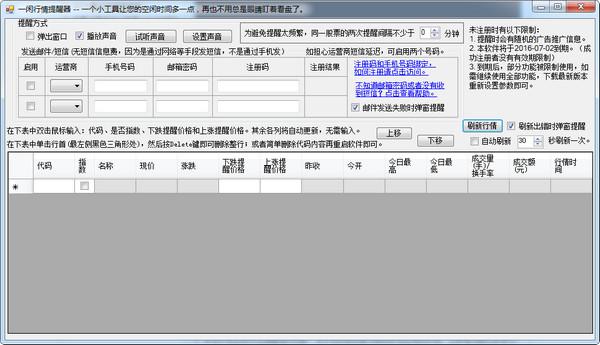 一闲行情提醒器 v1.2绿色版