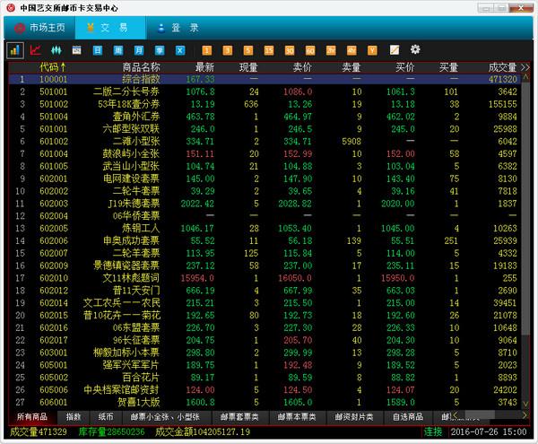 中国艺交所邮币卡交易中心(win7版)