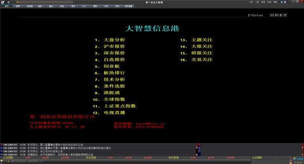 第一创业大智慧专业版 V7.60(0209)官方版