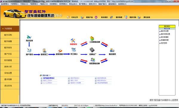 智百盛汽修汽配软件 V8.0官方版