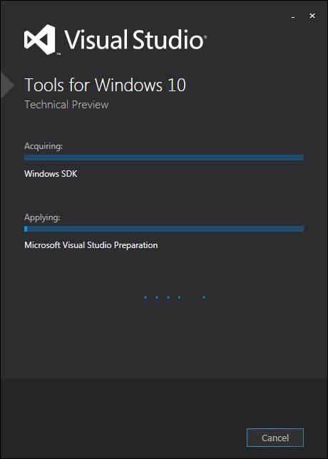 Windows10技术预览版开发工具