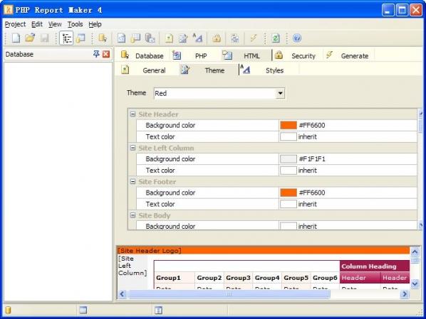 PHP Report Maker(数据库报表生成工具)