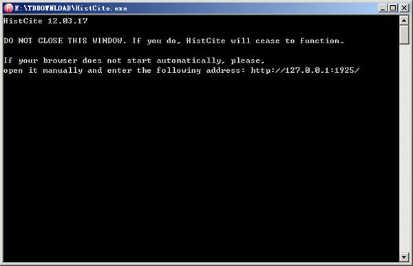 文献索引分析软件(HistCite) v1.0