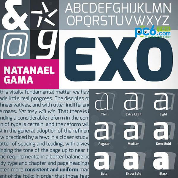 exo字体 18款