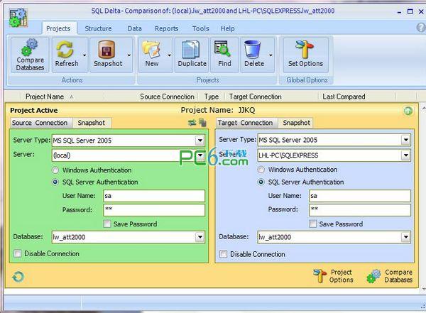 数据库对比工具(SQL DELTA)