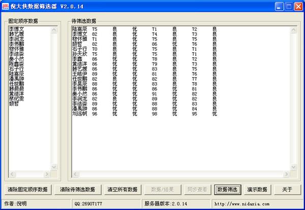 倪大侠数据筛选器 2.0.14 绿色版