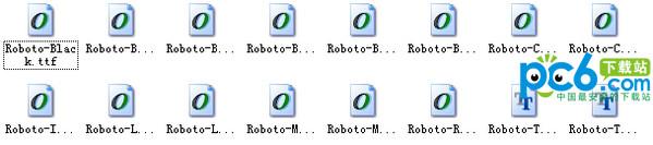 roboto字体打包
