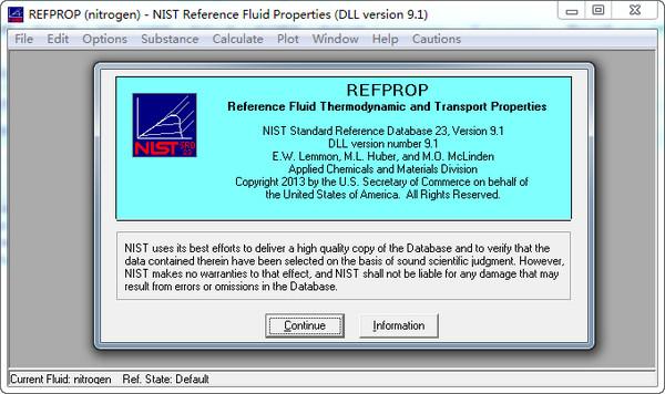 REFPROP(制冷剂物性查询软件) 9.1 免费版