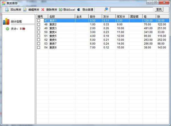 大师配焦(石油焦配比)软件