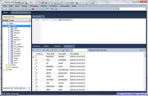Mysql workbench(数据库设计设计工具)