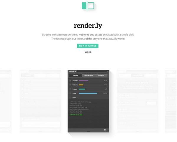 Render.ly设计导出PS插件