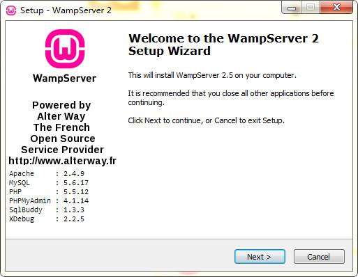 wampserver(php环境搭建安装包) v2.5中文版 64位