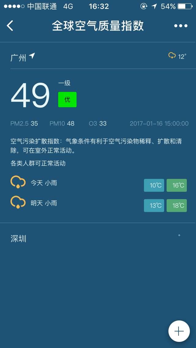 全球空气质量指数小程序