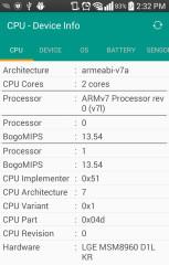 CPU设备信息:CPU - Device Info