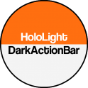Dark ActionBar Orange CM Theme 0.1