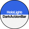 Dark ActionBar Navy CM Theme 0.1