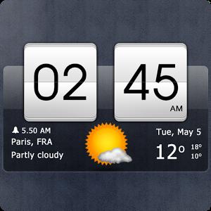 Sense式时钟和天气挂件:Sense flip clock & weather2.21.03