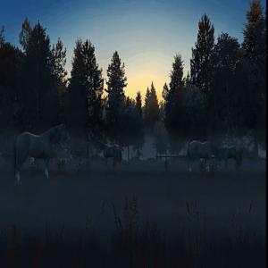 3D幽灵马动态桌面:3D Ghost Horses 2.1