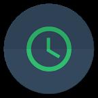 扁平时钟部件:Flat Clock Widget 1.5