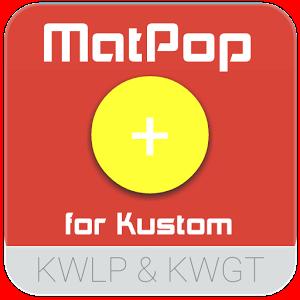 质感挂件:MatPop for Kustom 1.1