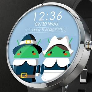 感恩节表盘:Thanksgiving for Android Watch Face 1