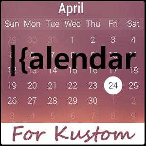 Kustom日历插件:kCalendar for Kustom 1.4