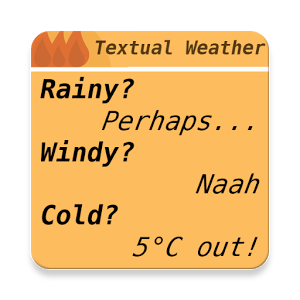 文字天气TextualWeather 1.1