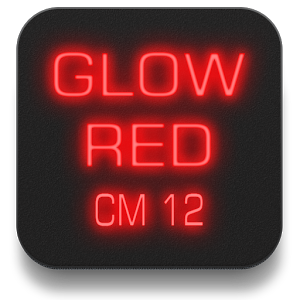 Glow Red CM13 CM12/12.1 Theme 4.1