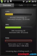 通话短信流量统计:DroidStats