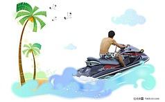 摩托艇冲浪