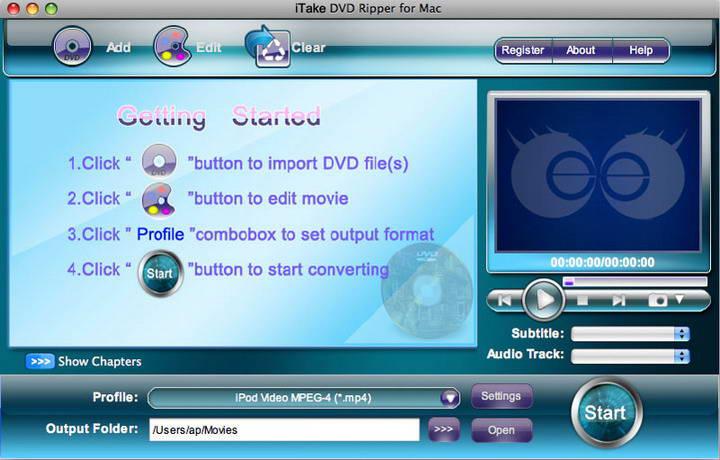 iTake DVD Ripper for mac
