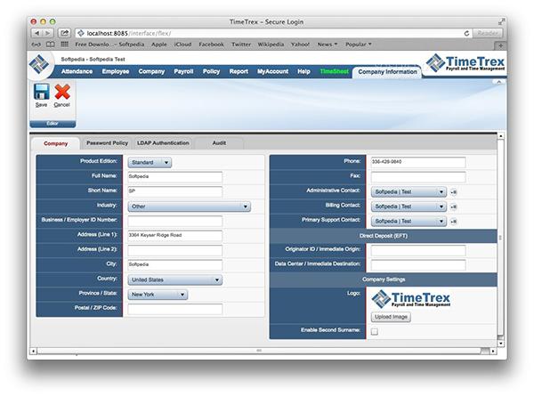 TimeTrex For Mac